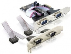 Adapteris Delock plokštė pci express -> 4 x serial port (RS232)