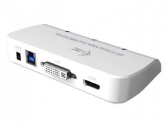 Adapteris Dual Display i-tec USB3.0 1x HDMI 1x DVI  1x VGA Adapteris Full HD