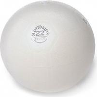 Aerobikos kamuolys PEZZI Softball MAXAFE 22 cm. White Vingrinājumā bumbiņas