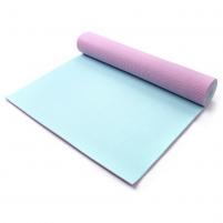 Aerobikos kilimėlis Meteor TPE Yoga rožinis/mėtinis