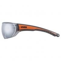 Akiniai Uvex Sportstyle 204 black orange / mirror silver