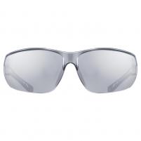 Akiniai Uvex Sportstyle 204 black white / mirror silver