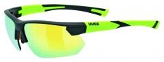 Akiniai Uvex Sportstyle 221 black mat yellow