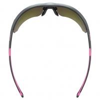 Akiniai Uvex Sportstyle 221 black pink mat / mirror pink Dviratininkų akiniai