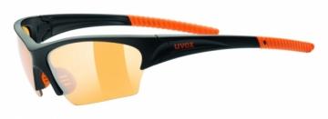 Akiniai Uvex Sunsation black mat orange Bikers goggles