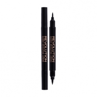 Akių kontūras Makeup Revolution London Awesome Double Flick Liquid Eyeliner Cosmetic 1g Shade Black Akių pieštukai ir kontūrai