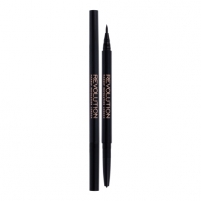 Akių kontūras Makeup Revolution London Awesome Dual Eyeliner Felt & Kohl Cosmetic 0,18g Shade Black