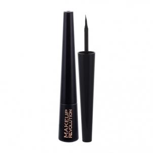 Akių kontūras Makeup Revolution London Liquid Eyeliner Cosmetic 3ml Shade Ultra Black Akių pieštukai ir kontūrai