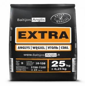 Akmens anglys EXTRA 50-150 mm 25 kg Cietā kurināmā apkures katli
