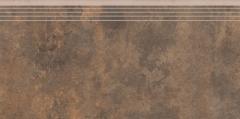 Akmens masės pakopa 597*297*8.5 35722 APENINO RUST LAP, Akmens masės apdailos plytelės