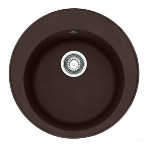 Akmens masės plautuvė FRANKE ROG 610-41 Šokoladas, ventilis ekscentrinis