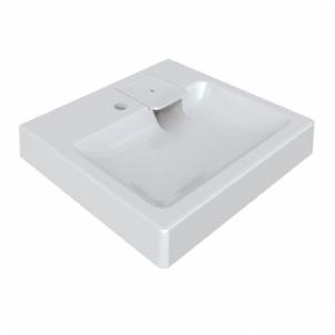 Akmens masės praustuvas POLYCER Compactino 60x60 montuojamas virš skalbyklės Wash basins