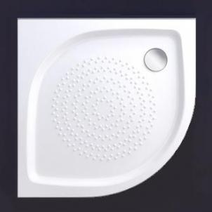 Akmens masės pusapvalis dušo padėklas VISPOOL RR-90 (r550) Dušas teknes