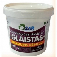 Akril - lateksinis glaistas SAR su marmuro užpildu 8 kg