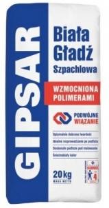 ATLAS GIPSAR UNI - ENHANCED FORMULA - white surface finish 20 kg Grouts/putty