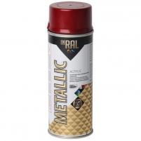 Akrilinis lakas INRAL METALLIC 400ml raudona sp. Aerosol paints
