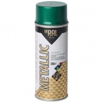 Akrilinis lakas INRAL METALLIC 400ml žalia sp.