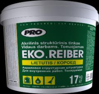 Akrilinis struktūrinis (dekoratyvnis) tinkas EKO.REIBER, lietutis, 17 kg