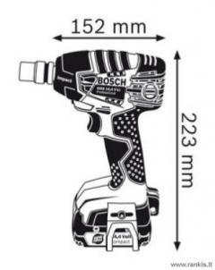 Akumuliatorinis suktuvas BOSCH GDS 18 V-LI Compact Professional