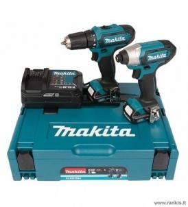 Akumuliatorinių įrankių rinkinys MAKITA CLX201SAJ (DF331D + TD110D) combokit 10.8V, 2x2.0ah Battery tool kits