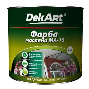 Aliejiniai dažai MA-15 DekART balti 1 kg Масляная краска