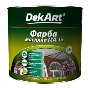 Aliejiniai dažai MA-15 DekART balti 2,5 kg Масляная краска