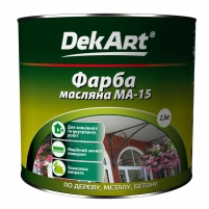 Aliejiniai dažai MA-15 DekART balti 2,5 kg