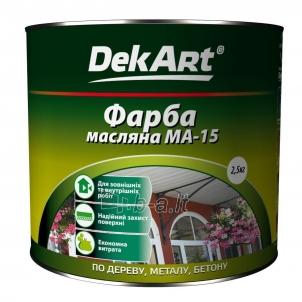 Aliejiniai dažai MA-15 DekART žali 2,5 kg Масляная краска