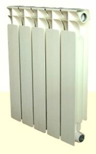 Aliumininis radiatorius su plieniniais antikoroziniais vamzdžiais 18001-500 15sekc. The aluminium radiators