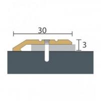 Aliuminio profilis P1 Maxi 93 cm aukso spalvos