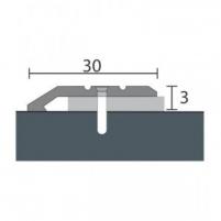 Aliuminio profilis P1 MAXI 93 cm sidabro spalvos