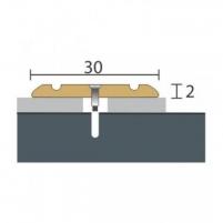 Aliuminio profilis P2 MAXI 270 cm aukso spalvos Grindų jungimo profiliai (Alium., PVC)