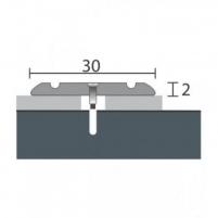 Aliuminio profilis P2 MAXI 93 cm sidabro spalvos