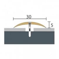 Aliuminio profilis P3 Maxi 180 cm aukso spalvos