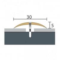 Aliuminio profilis P3 Maxi 93 cm aukso spalvos Grindų jungimo profiliai (Alium., PVC)