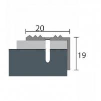 Aliuminio profilis P30 MAXI 180 cm sidabro spalvos Grindų jungimo profiliai (Alium., PVC)