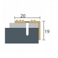 Aliuminio profilis P30 MAXI 93 cm aukso spalvos