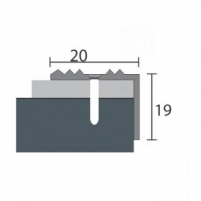 Aliuminio profilis P30 MAXI 93 cm sidabro spalvos