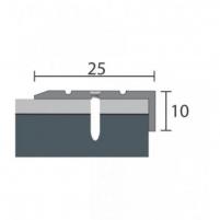 Alumīnija profils P31 MAXI 93 cm sudrabs