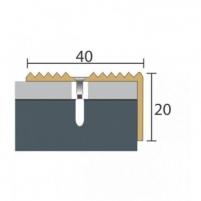 Aliuminio profilis P33 MAXI 93 cm aukso spalvos