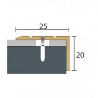 Aliuminio profilis P36 Maxi 93 cm aukso spalvos