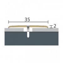 Aliuminio profilis P8 MAXI 180 cm aukso spalvos Grindų jungimo profiliai (Alium., PVC)