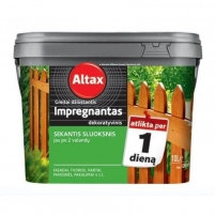 ALTAX greitai džiūstantis impregnantas 0,75l raudonmedis