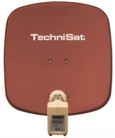 Antena TechniSat TV Sat DigiDish 45 Twin Plytų raudonumo spalva Tv antenas