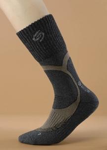 Antibakterinės kojinės TREKKING DEODORANT chaki spalva