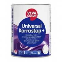 Antikorozinis gruntas VIVACOLOR Universal Korrostop+ GREY 1l Statybiniai gruntai