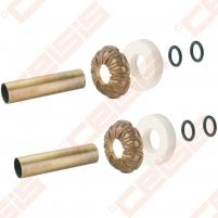 Apdaila (spalva: bronza) dviem vamzdžiams (atstumas nesvarbus) CARLO POLETTI A670; 18 x 50; L=160mm