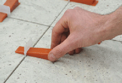 Apkabos (1,5 mm) plytelėms nuo 12 iki 20 mm storio, 200vnt
