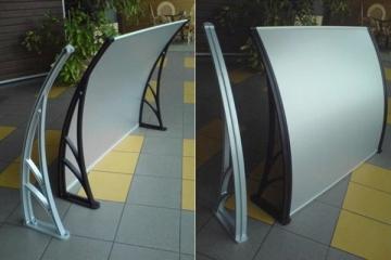 Canopies 150x94x28 cm aluminum frame, matt cover (AL) Door canopies