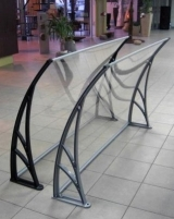 Canopies 150x94x28 cm PVC frame, transparent cover Door canopies
